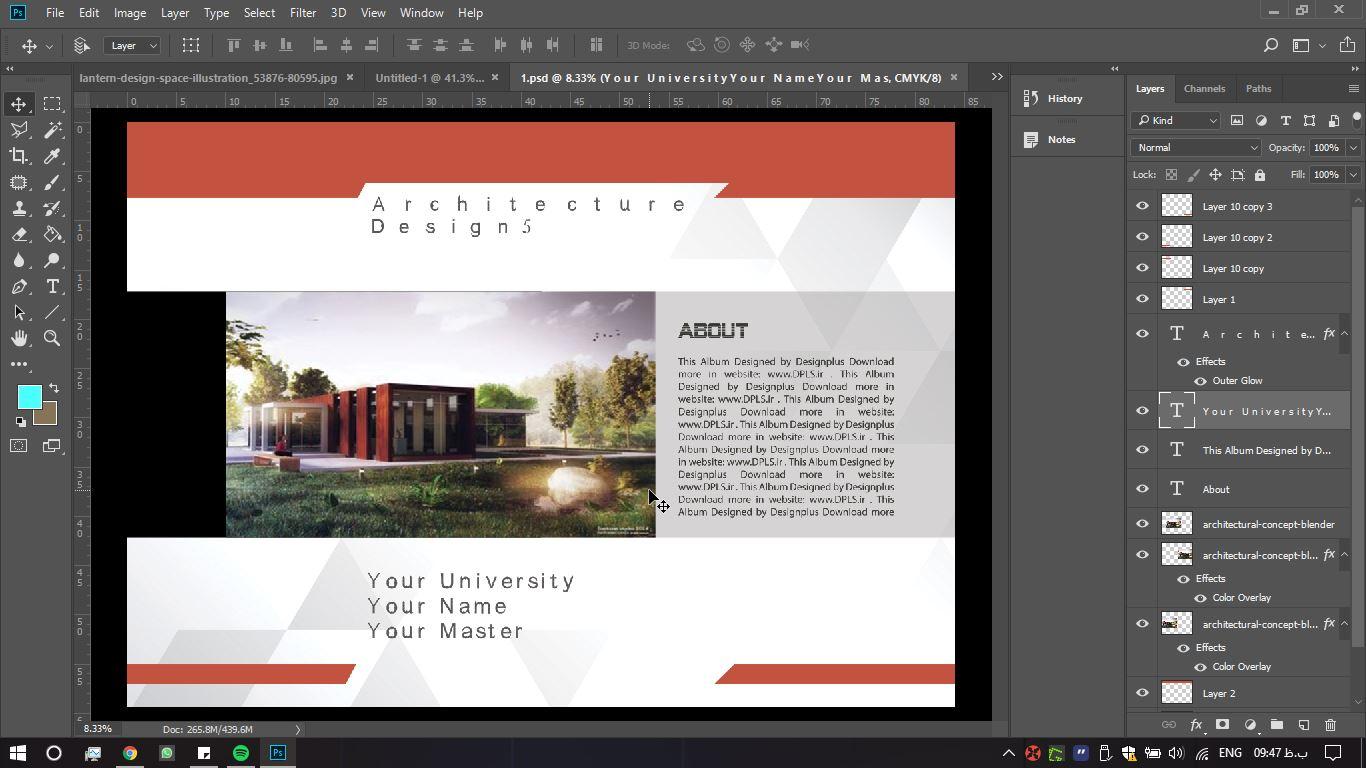 آلبوم معماری فتوشاپ 2 - دانلود آلبوم معماری لایه باز - طرح شماره ۲