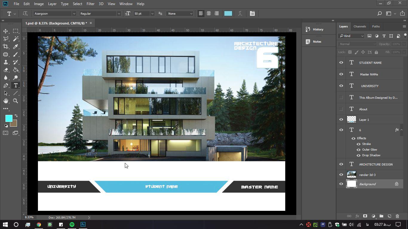 آلبوم معماری فتوشاپ 3 - دانلود آلبوم معماری لایه باز - طرح شماره ۳