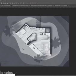 آموزش رایگان فتوشاپ معماری پست پروداکشن پلان