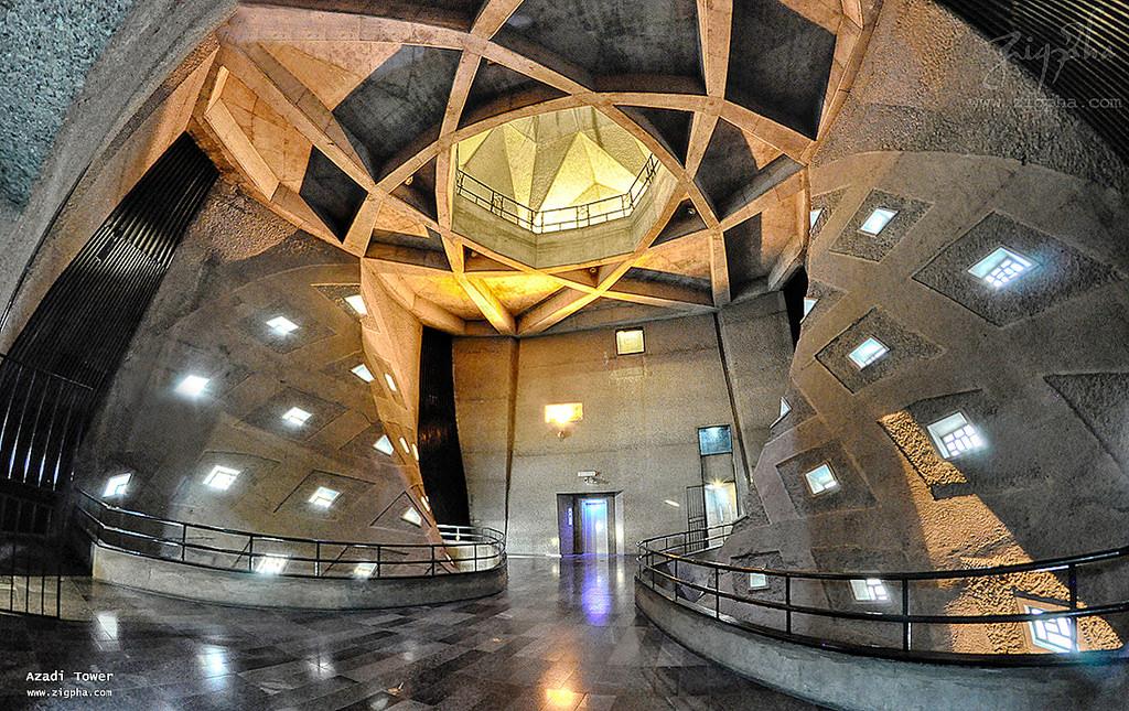 برج آزادی داخلی - مستند شکوه معماری - برج آزادی تهران