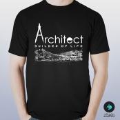 تی شرت طرح معماری آرشیتکت ۱ مشکی – مردانه