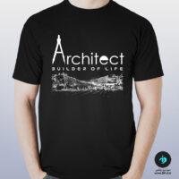 تی شرت طرح معماری آرشیتکت ۱ مشکی