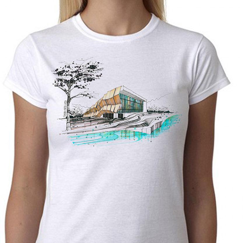 تی شرت طرح معماری آرشیتکت ۳ زنانه
