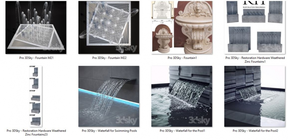 دانلود آبجکت سه بعدی آبنما (۳)
