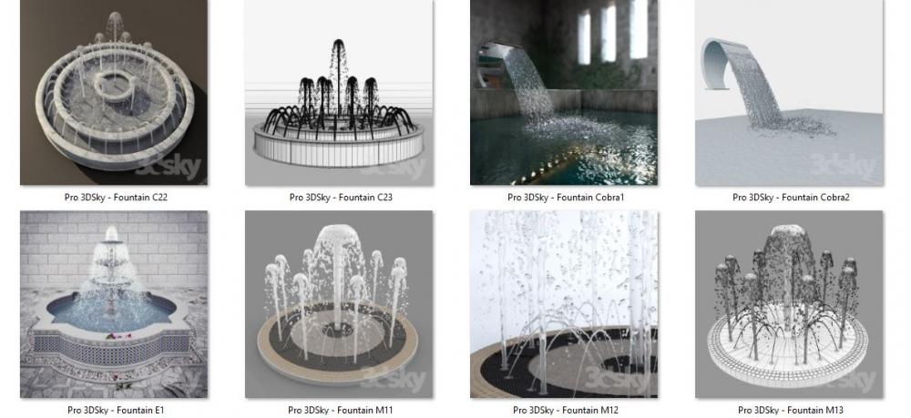 دانلود آبجکت سه بعدی آبنما (۴)