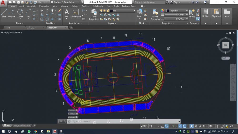 دانلود رایگان پروژه آماده ورزشگاه 3 1000x562 - دانلود رایگان پروژه آماده ورزشگاه (۲۳ نمونه) به همراه نقشه اتوکد و جزئیات