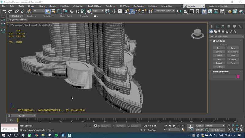 دانلود سه بعدی برج خلیفه 3 - دانلود ۱۰ مدل سه بعدی ساختمانهای مشهور ایران و جهان ۳Ds Max