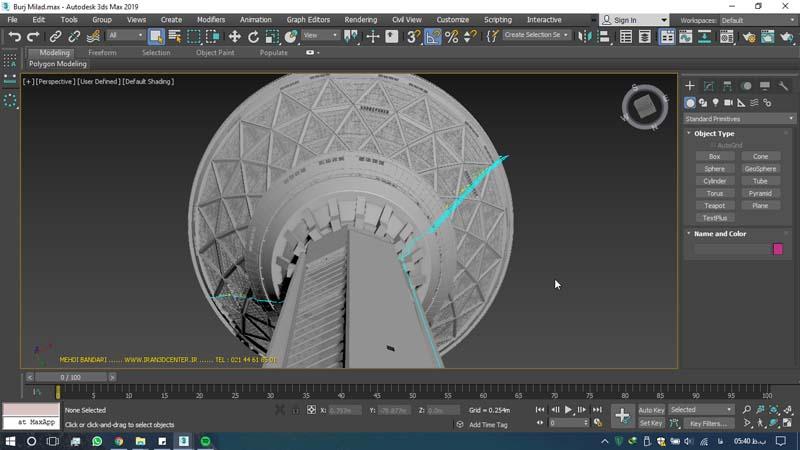 دانلود سه بعدی برج میلاد 2 - دانلود ۱۰ مدل سه بعدی ساختمانهای مشهور ایران و جهان ۳Ds Max