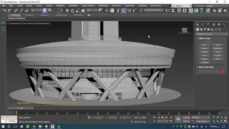 دانلود سه بعدی برج میلاد 3 - دانلود ۱۰ مدل سه بعدی ساختمانهای مشهور ایران و جهان ۳Ds Max
