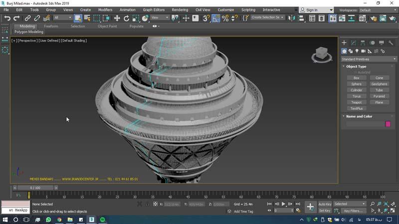 دانلود سه بعدی برج میلاد - دانلود ۱۰ مدل سه بعدی ساختمانهای مشهور ایران و جهان ۳Ds Max