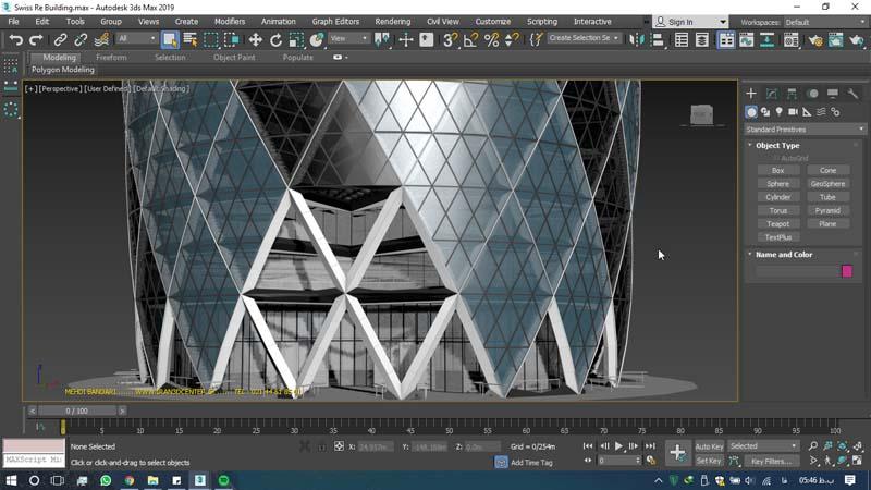 دانلود سه بعدی ساختمان ری سوئیس 2 - دانلود ۱۰ مدل سه بعدی ساختمانهای مشهور ایران و جهان ۳Ds Max