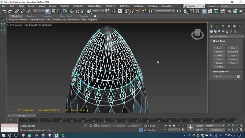 دانلود سه بعدی ساختمان ری سوئیس 3 - دانلود ۱۰ مدل سه بعدی ساختمانهای مشهور ایران و جهان ۳Ds Max