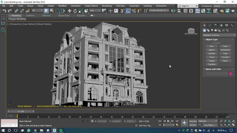 دانلود سه بعدی ساختمان لوتوس (۱)