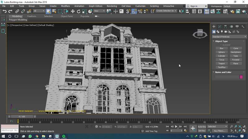 دانلود سه بعدی ساختمان لوتوس 2 - دانلود ۱۰ مدل سه بعدی ساختمانهای مشهور ایران و جهان ۳Ds Max