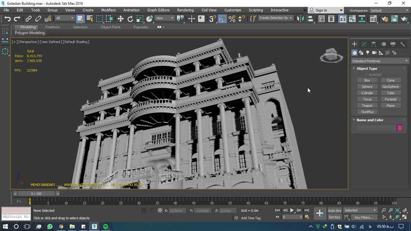 دانلود سه بعدی ساختمان گلستان 1 - دانلود ۱۰ مدل سه بعدی ساختمانهای مشهور ایران و جهان ۳Ds Max
