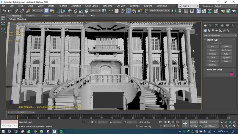 دانلود سه بعدی ساختمان گلستان 2 - دانلود ۱۰ مدل سه بعدی ساختمانهای مشهور ایران و جهان ۳Ds Max