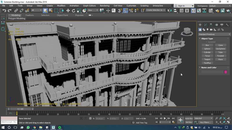دانلود سه بعدی ساختمان گلستان (۳)