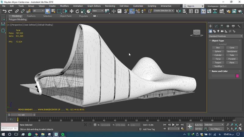 دانلود سه بعدی مرکز فرهنگی حیدر علی اف 3 - دانلود ۱۰ مدل سه بعدی ساختمانهای مشهور ایران و جهان ۳Ds Max