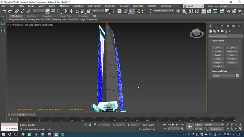 دانلود سه بعدی مرکز مالی جهانی شانگهای 1 - دانلود ۱۰ مدل سه بعدی ساختمانهای مشهور ایران و جهان ۳Ds Max