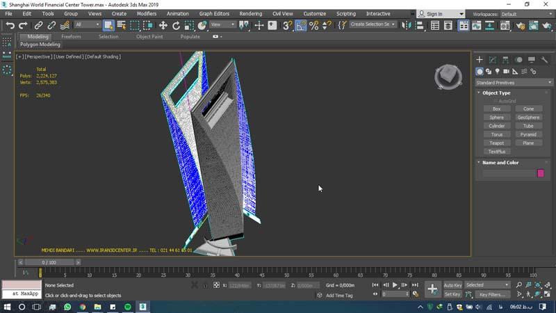 دانلود سه بعدی مرکز مالی جهانی شانگهای 2 - دانلود ۱۰ مدل سه بعدی ساختمانهای مشهور ایران و جهان ۳Ds Max