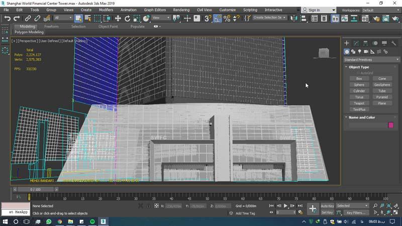دانلود سه بعدی مرکز مالی جهانی شانگهای 3 - دانلود ۱۰ مدل سه بعدی ساختمانهای مشهور ایران و جهان ۳Ds Max