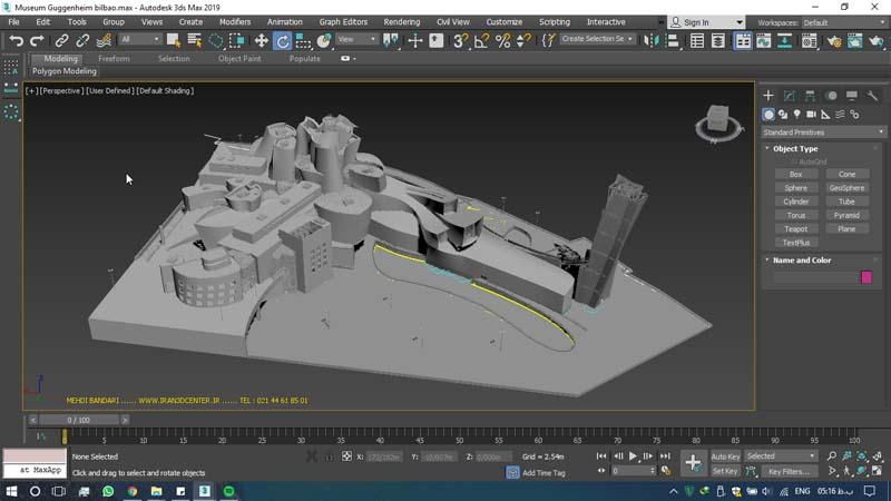 دانلود سه بعدی موزه گوگنهایم 1 - دانلود ۱۰ مدل سه بعدی ساختمانهای مشهور ایران و جهان ۳Ds Max