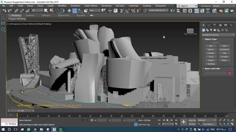 دانلود سه بعدی موزه گوگنهایم 2 - دانلود ۱۰ مدل سه بعدی ساختمانهای مشهور ایران و جهان ۳Ds Max