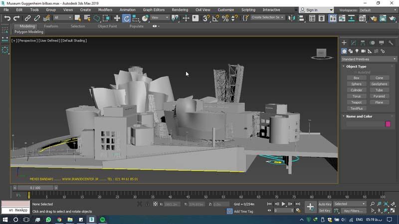 دانلود سه بعدی موزه گوگنهایم 3 - دانلود ۱۰ مدل سه بعدی ساختمانهای مشهور ایران و جهان ۳Ds Max