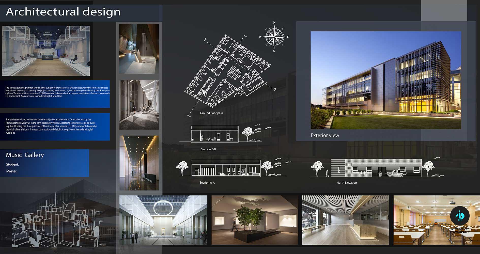 دانلود شیت لایه باز مشکی متری 1 - استودیو هنر و معماری دیزاین پلاس