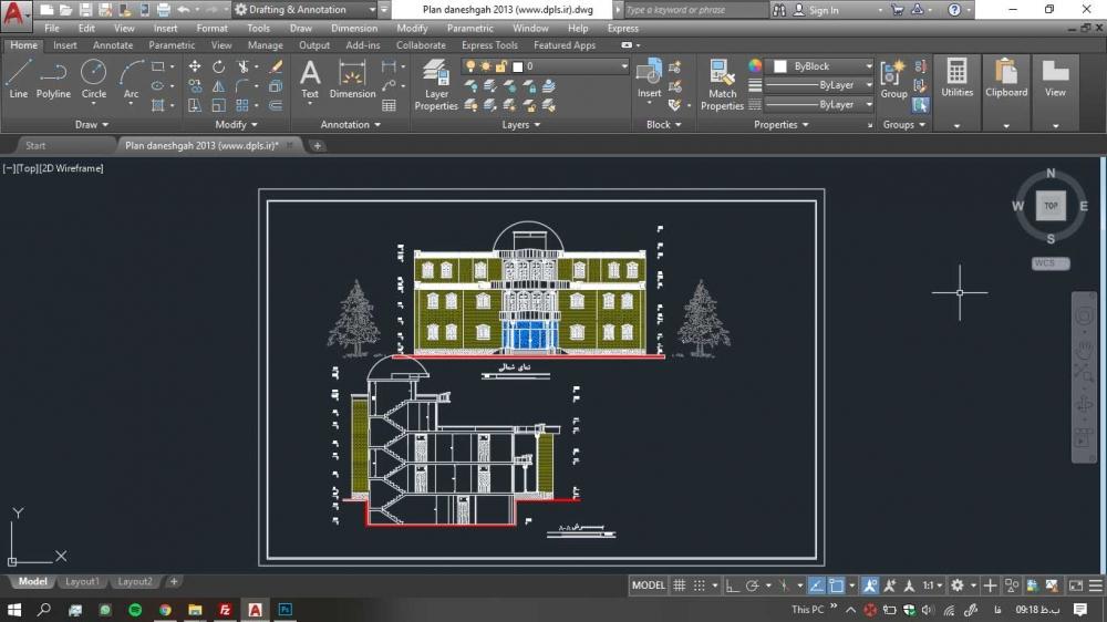 دانلود پروژه دانشکده 5 1000x562 - دانلود پروژه دانشکده ( نقشه ، سه بعدی )