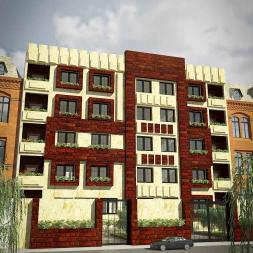 دانلود پروژه کامل آپارتمان ۵ طبقه ۴ واحدی (نقشه ، سه بعدی ، دیتیل)