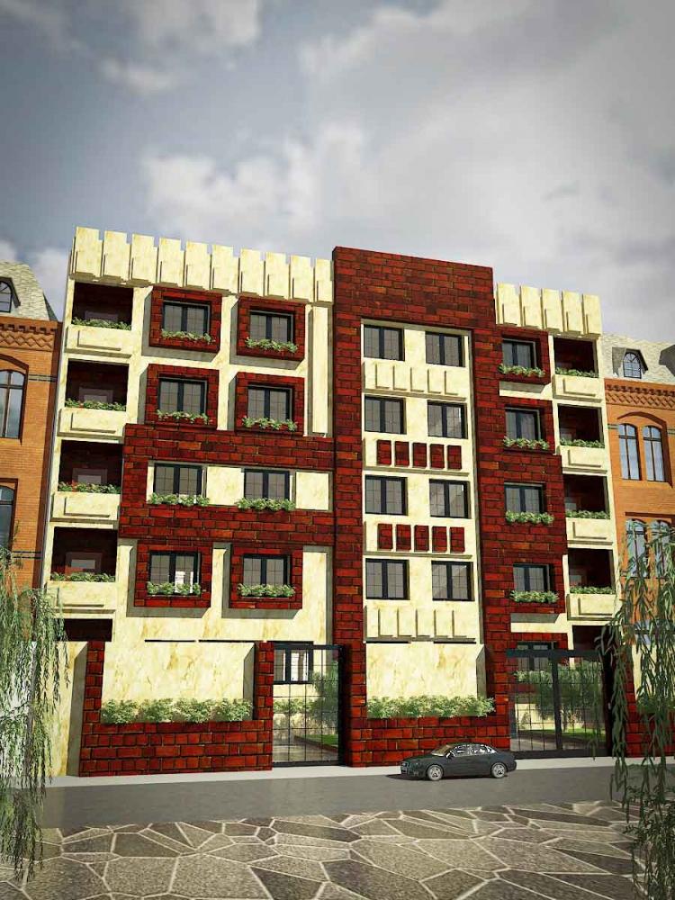دانلود پروژه مجتمع مسکونی 1 750x1000 - دانلود پروژه کامل آپارتمان ۵ طبقه ۴ واحدی (نقشه ، سه بعدی ، دیتیل)