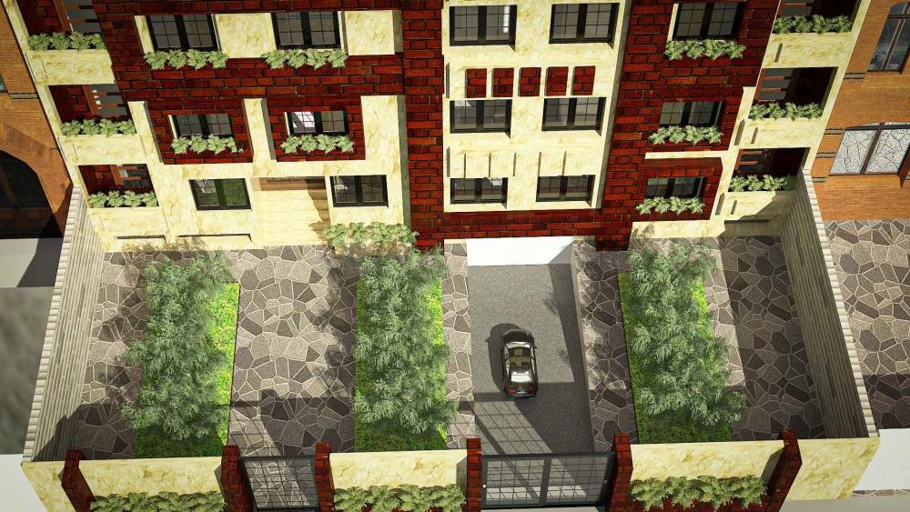 دانلود پروژه مجتمع مسکونی 2 1000x563 - دانلود پروژه کامل آپارتمان ۵ طبقه ۴ واحدی (نقشه ، سه بعدی ، دیتیل)