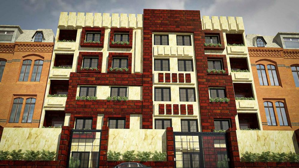 دانلود پروژه مجتمع مسکونی 3 1 1000x563 - دانلود پروژه کامل آپارتمان ۵ طبقه ۴ واحدی (نقشه ، سه بعدی ، دیتیل)