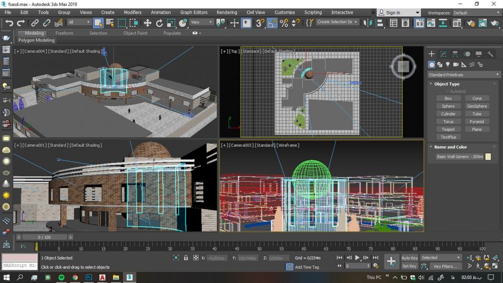 دانلود پروژه مدرسه سه بعدی 1000x563 - دانلود پروژه مدرسه ( نقشه ، سه بعدی )