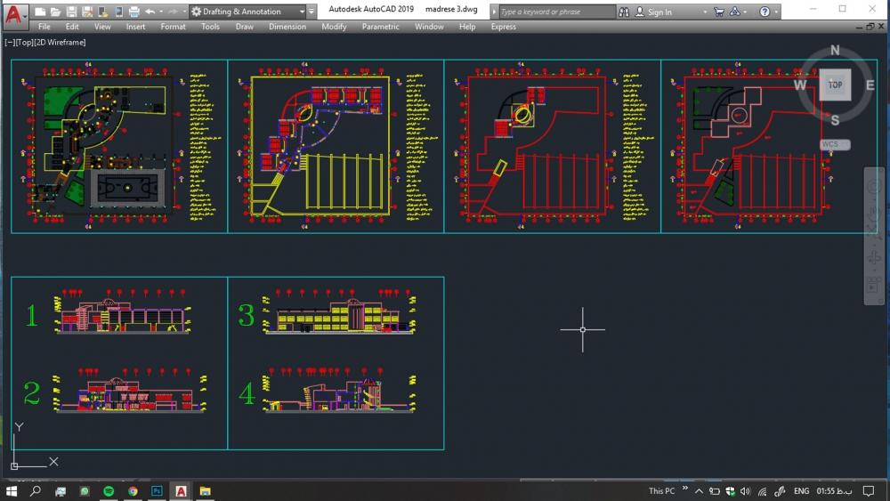 دانلود پروژه مدرسه 1 1000x563 - دانلود پروژه مدرسه ( نقشه ، سه بعدی )
