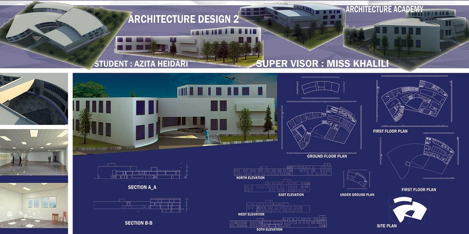 دانلود پروژه معماری آکادمی معماری