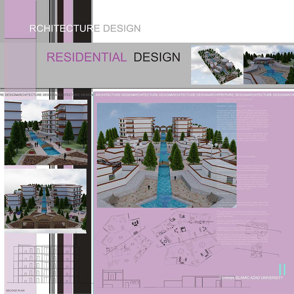 دانلود پروژه معماری شهرک مسکونی (۱)