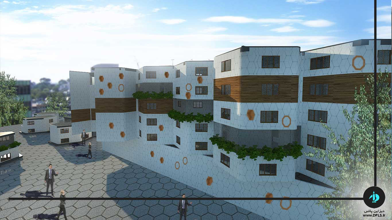 دانلود پروژه معماری شهرک مسکونی (۲)