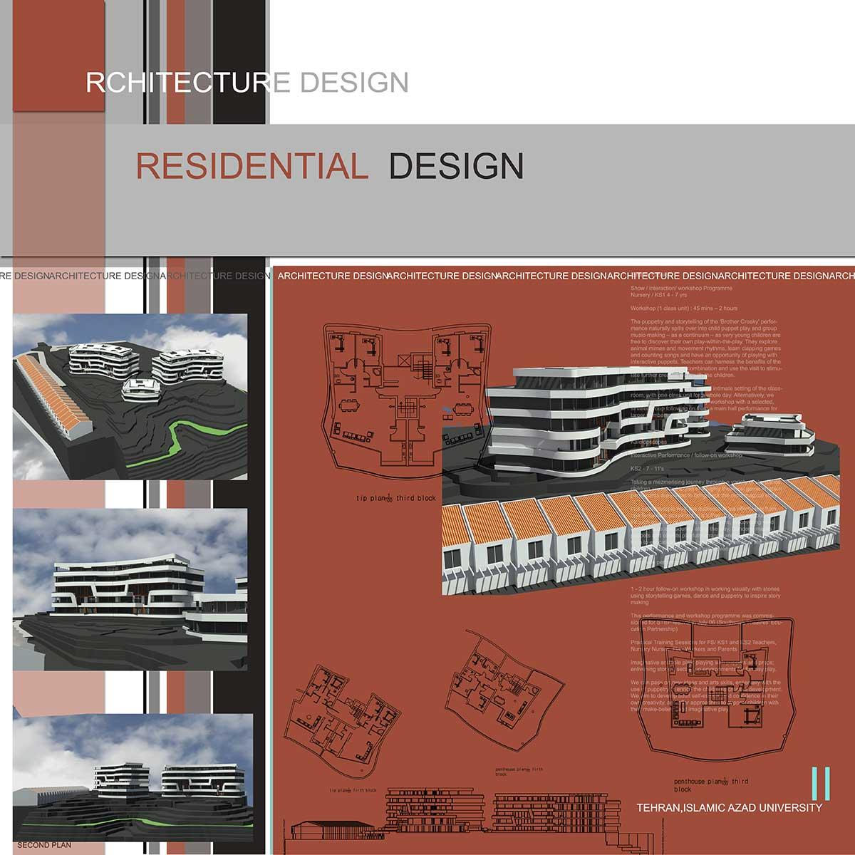 دانلود پروژه معماری شهرک (۱)