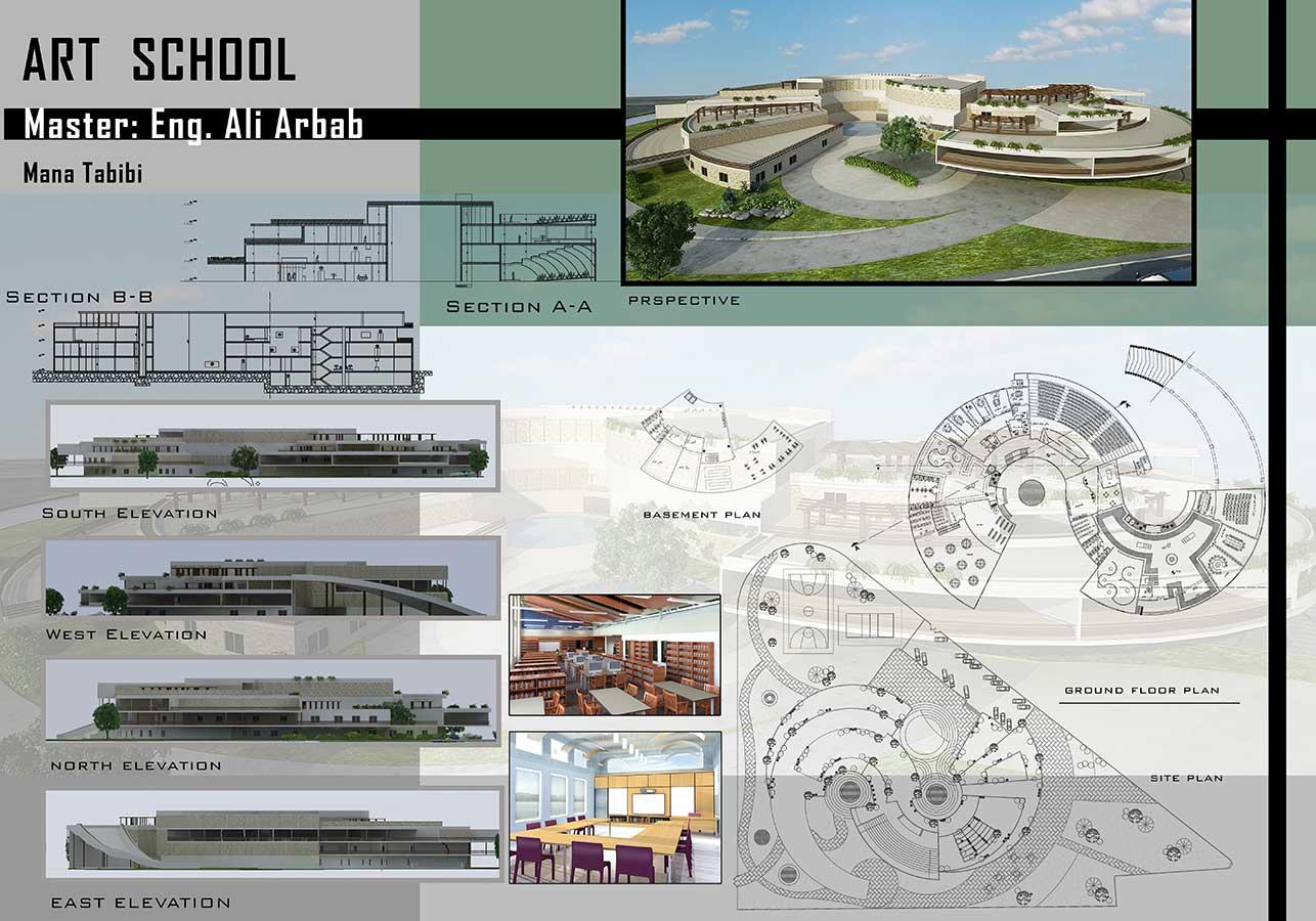 دانلود پروژه معماری مدرسه هنر