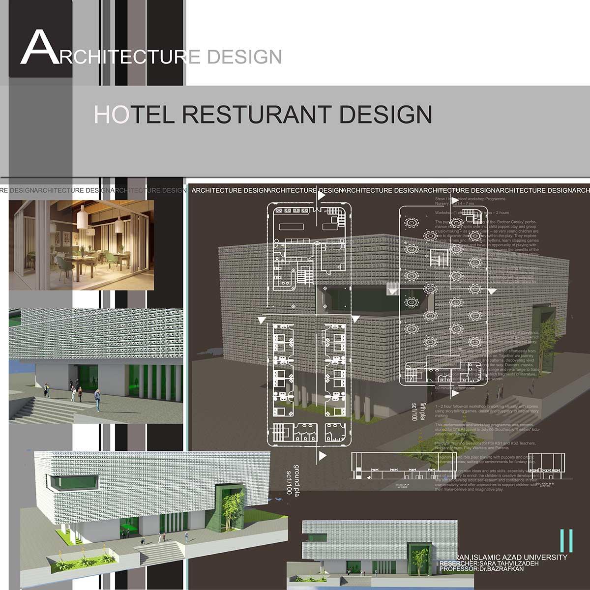 دانلود پروژه معماری هتل رستوران (۱)