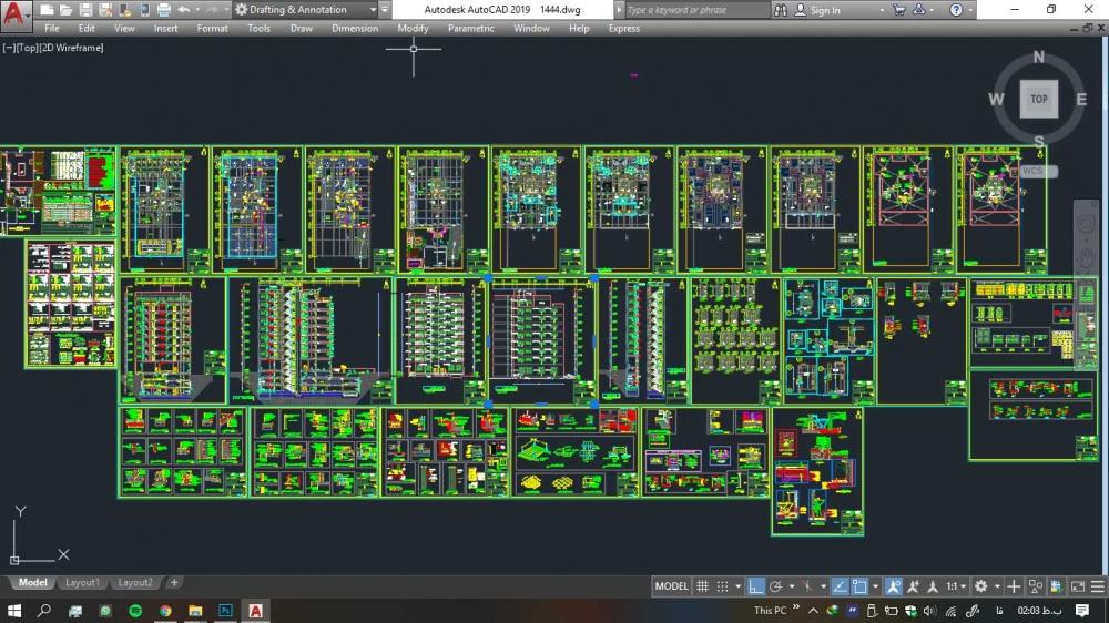 دانلود پروژه کامل مسکونی مورد تایید نظام مهندسی نقشه ها (۱)