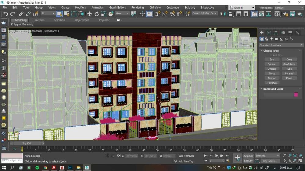 سه بعدی 1000x562 - دانلود پروژه کامل آپارتمان ۵ طبقه ۴ واحدی (نقشه ، سه بعدی ، دیتیل)