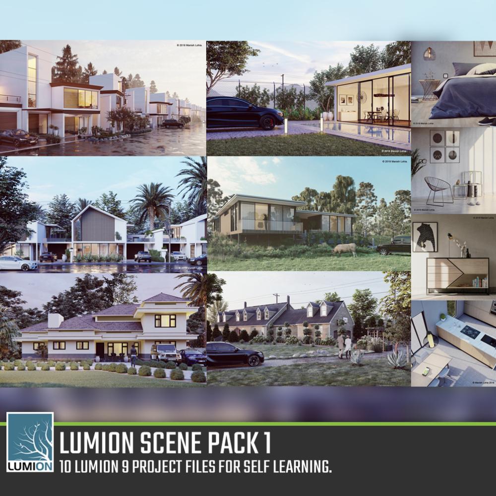 صحنه آماده لومیون 1000x1000 - دانلود صحنه آماده لومیون (۱۰ مدل ) از شرکت Gumroad