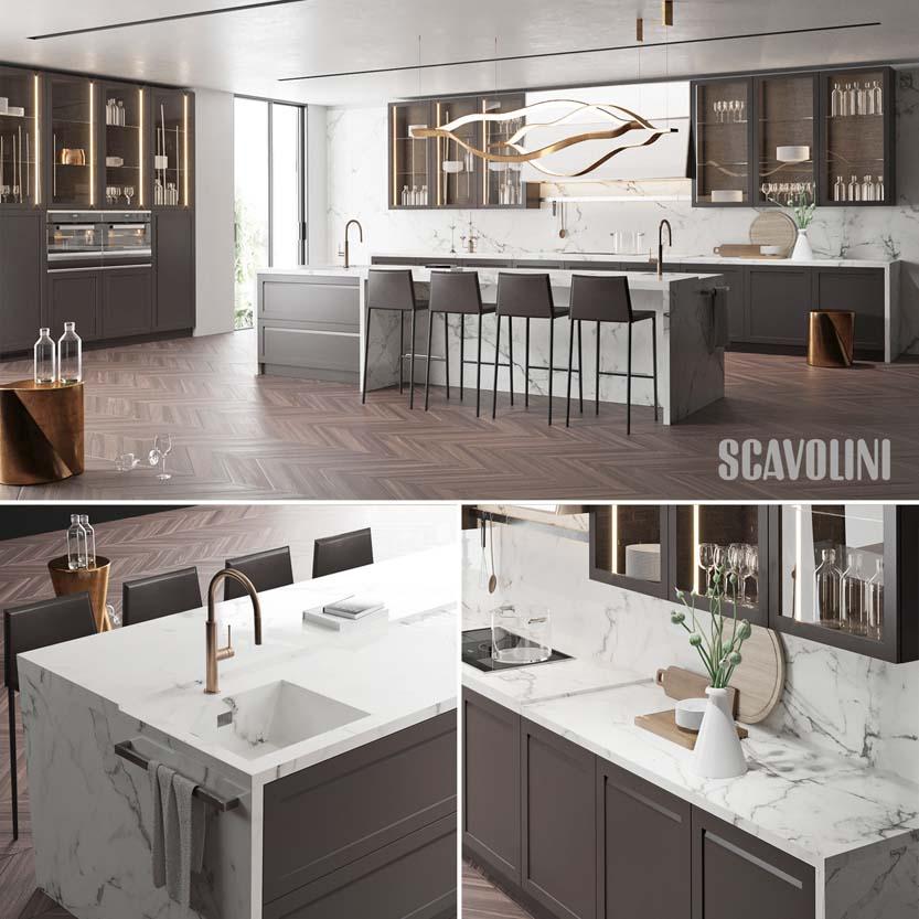 صحنه داخلی آشپزخانه 3d max 12 - فروشگاه دانلودی دیزاین پلاس