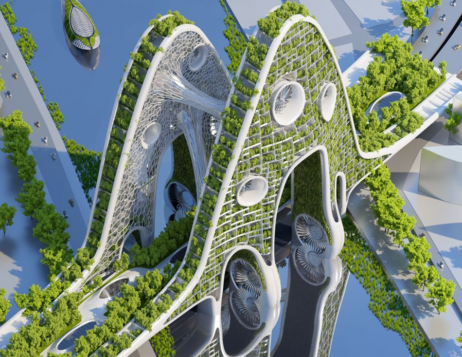 پاورپوینت انسان طبیعت معماری بیونیک