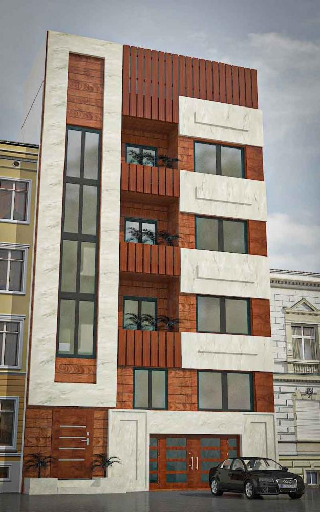 پروژه کامل معماری آپارتمان مسکونی 1 625x1000 - دانلود آبجکت و تکسچر