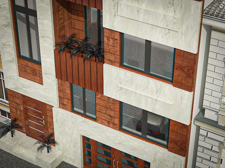 پروژه کامل معماری آپارتمان مسکونی (۱)