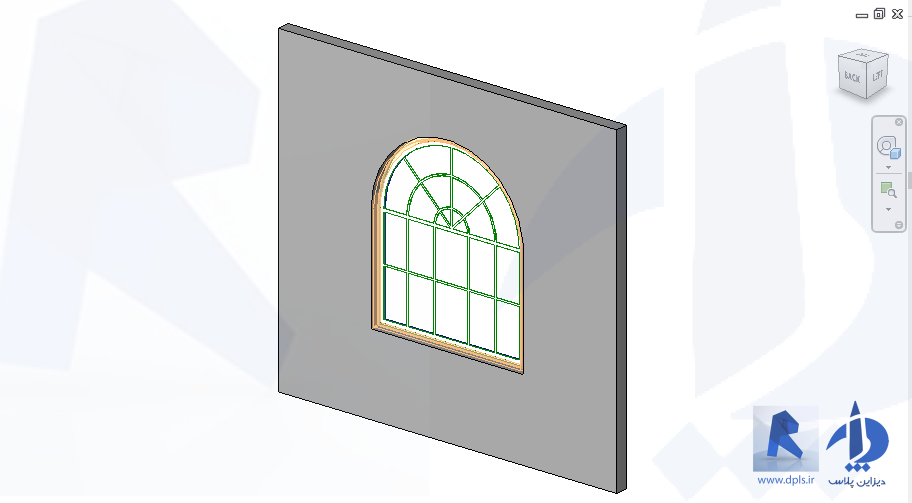 1200 x 1800 Arched window with Sunray transum 2269 - دانلود ها